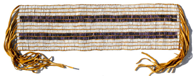 """Source: """"The Two Row Wampum Belt: An Akwesasne Tradition of the Vessel and Canoe,"""" by D. Bonaparte, n.d., http://www.wampumchronicles.com/tworowwampumbelt.html"""